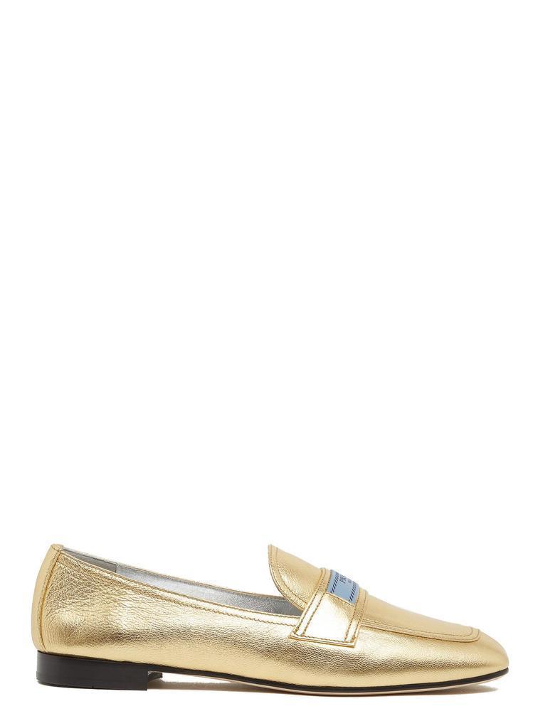 8afd04ee8b7 Prada Etiquette Metallic Loafers in Metallic - Lyst
