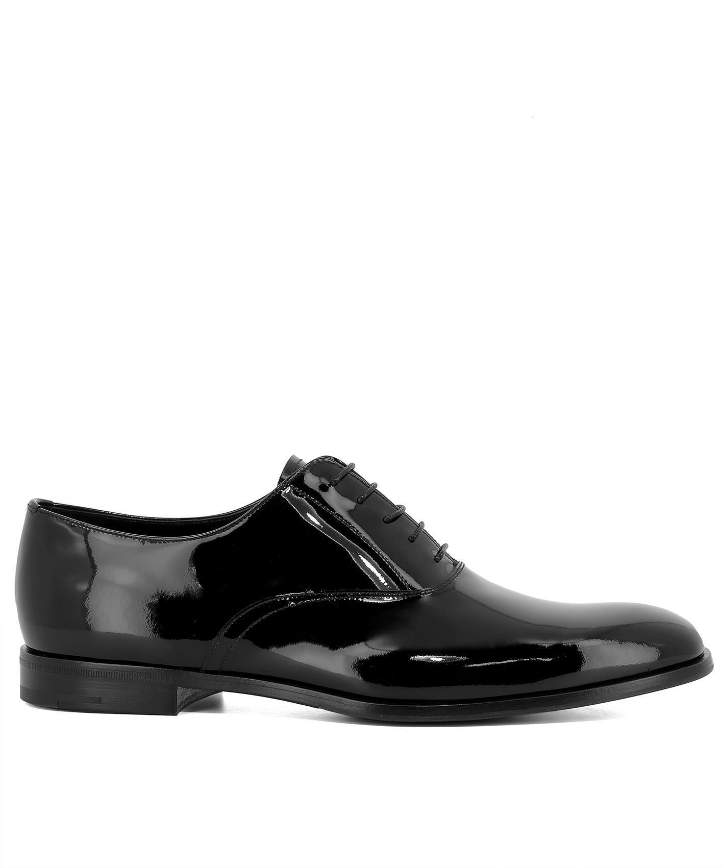 368a75735df0 Lyst - Prada Lace-up Oxford Shoes in Black for Men