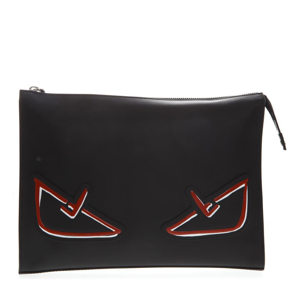 Fendi Bag Bugs Clutch Bag in Black for Men - Lyst 8f17084806b43