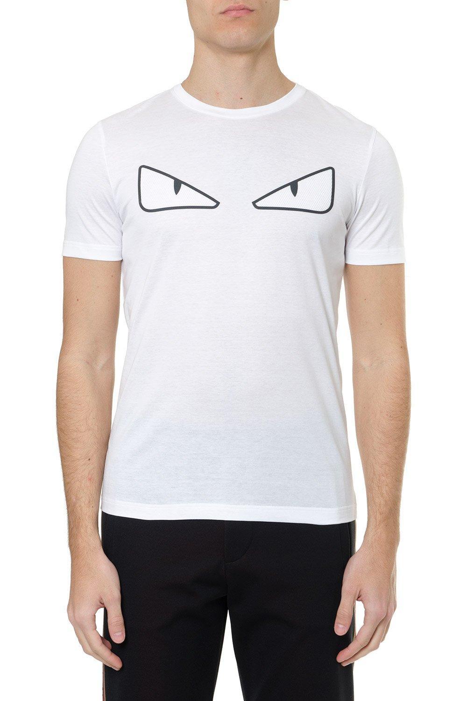 305247e91e62 Fendi Bag Bugs T-shirt in White for Men - Lyst