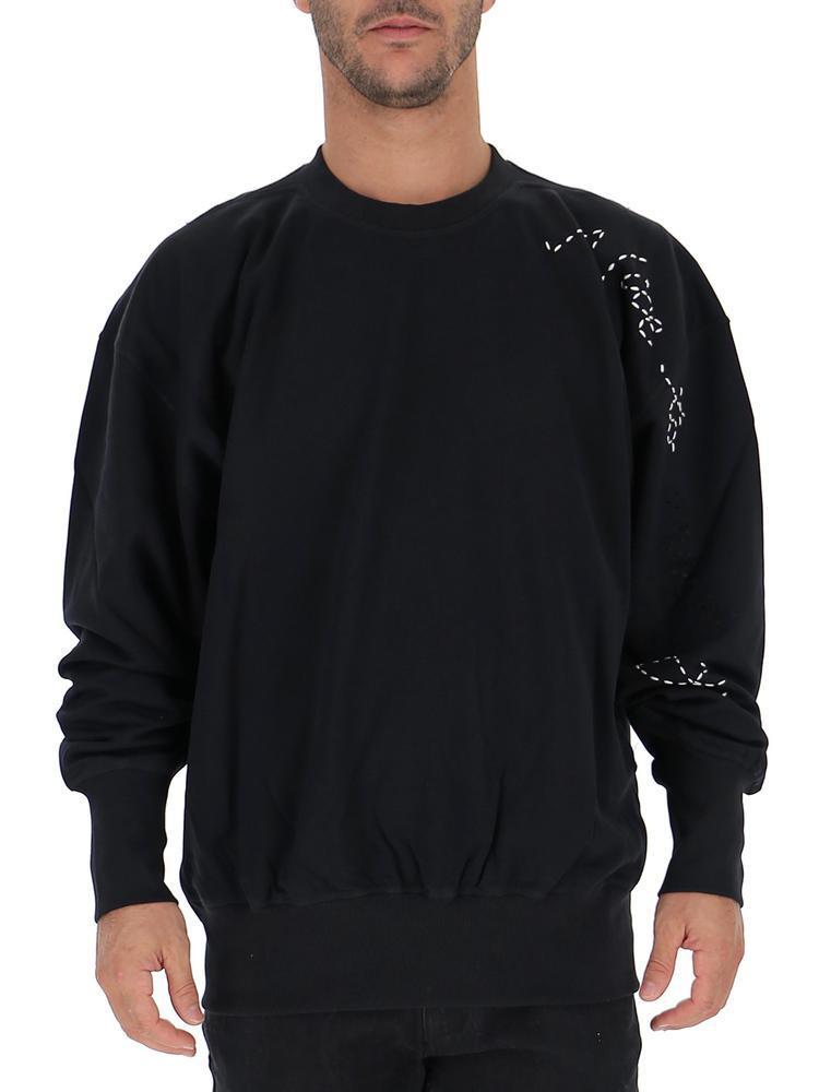 78c22fec5 Lyst - Adidas Y-3 X Yohji Yamamoto Sashiko Slogan Sweater in Black ...