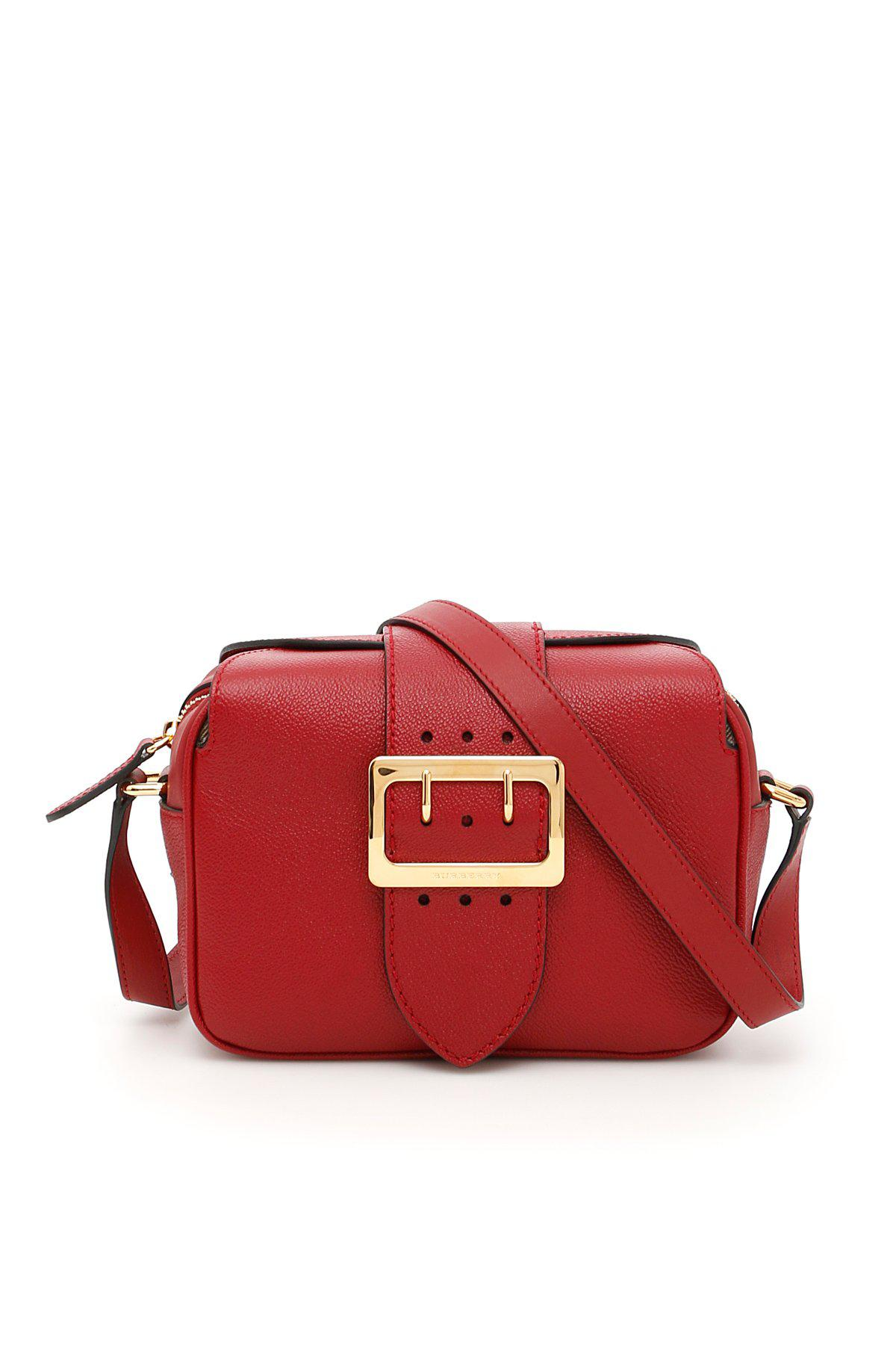 d8412f4aa057 Lyst - Burberry Buckle Bag in Red