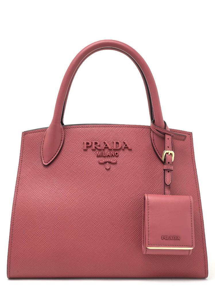 Prada - Pink Small Paradigm Monochrome Tote Bag - Lyst. View fullscreen ccc5849a5c89