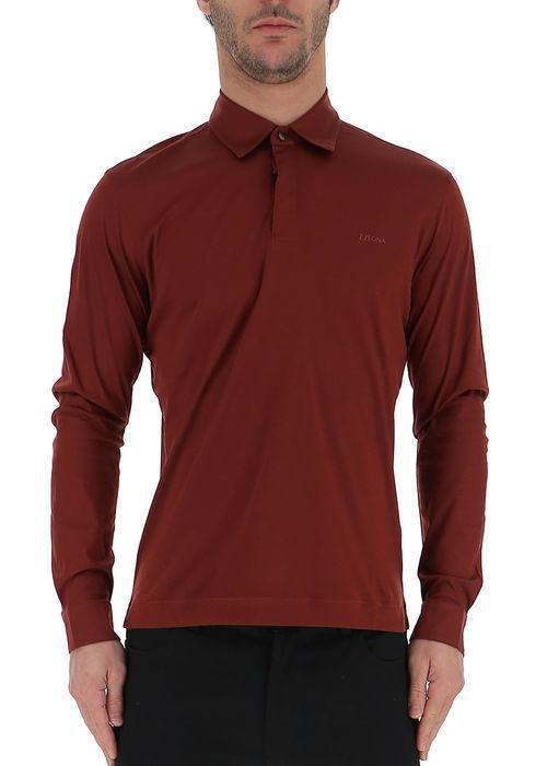 f79f99b9 Lyst - Z Zegna Long Sleeve Polo Shirt in Red for Men