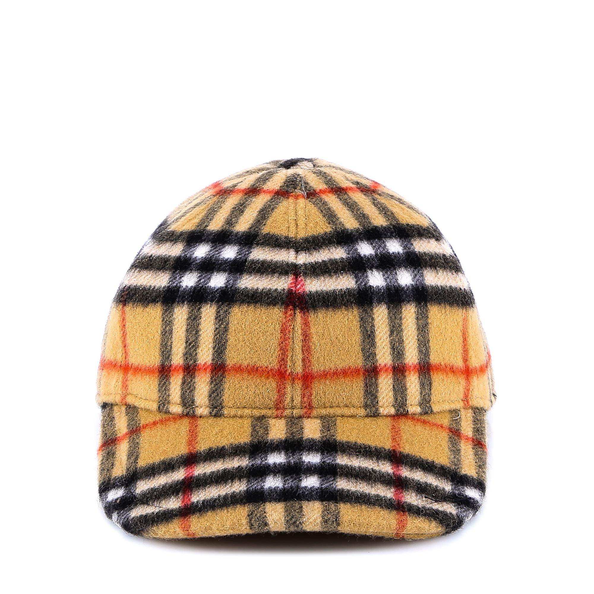 f6dc3f7ac1a912 Burberry Original Check Print Hat in Brown - Lyst