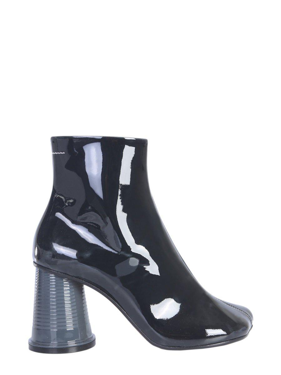 2b520fb632d0 MM6 by Maison Martin Margiela. Women s Black Flared Block Heel Ankle Boots