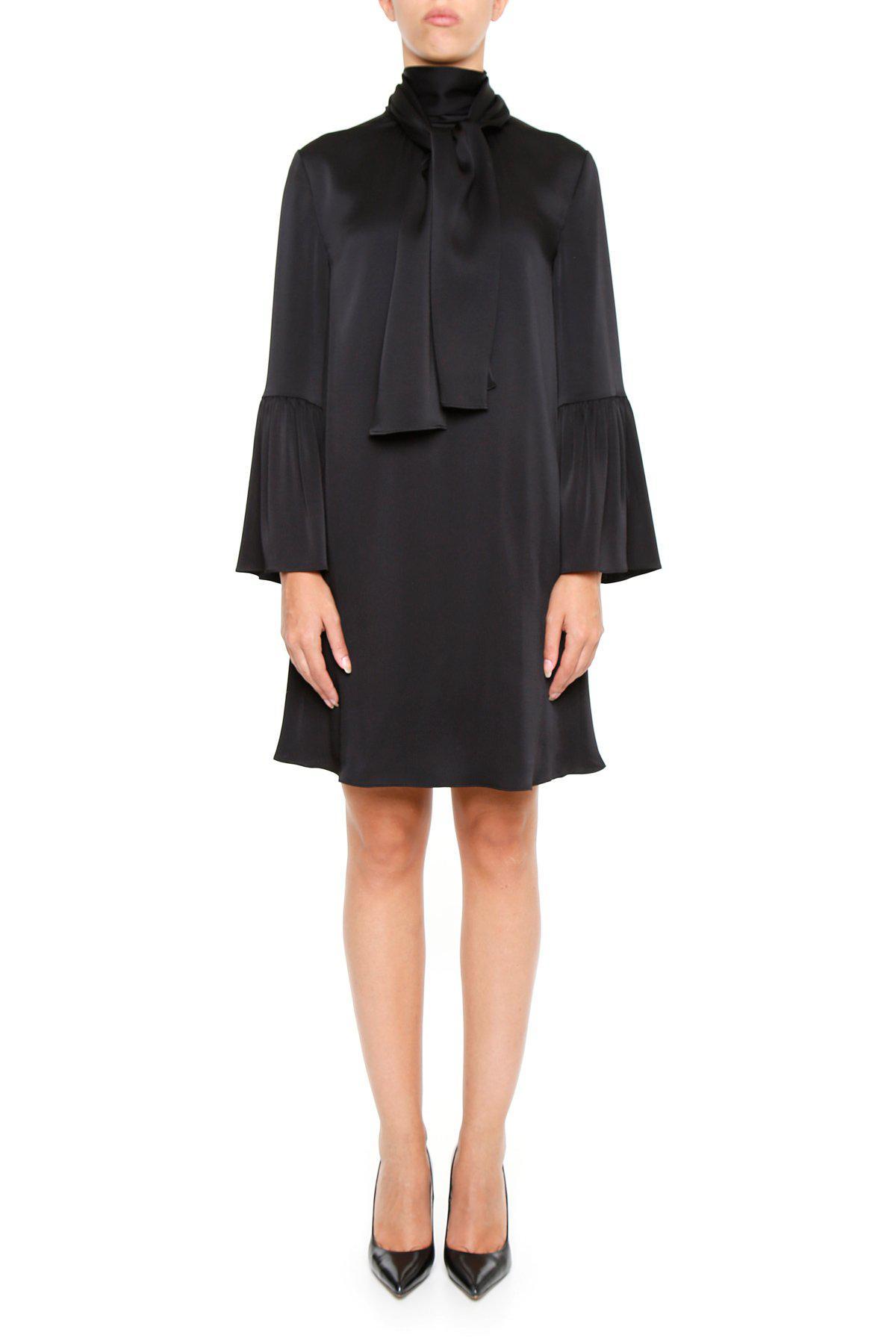4432e46d2eb Lyst - Fendi Bell Sleeve Dress in Black