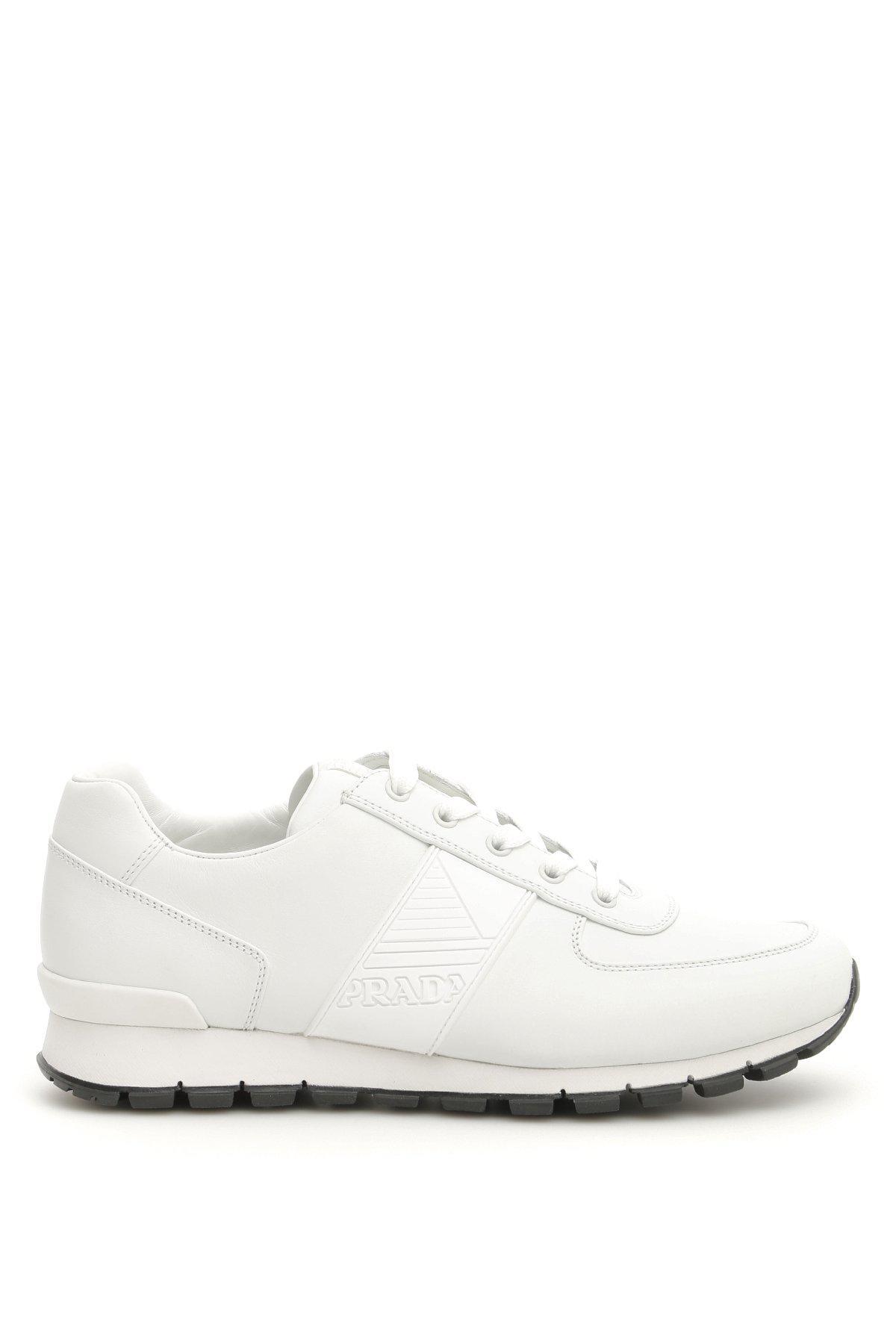cf926d5cf31d Lyst - Prada Match Race Sneakers in White for Men