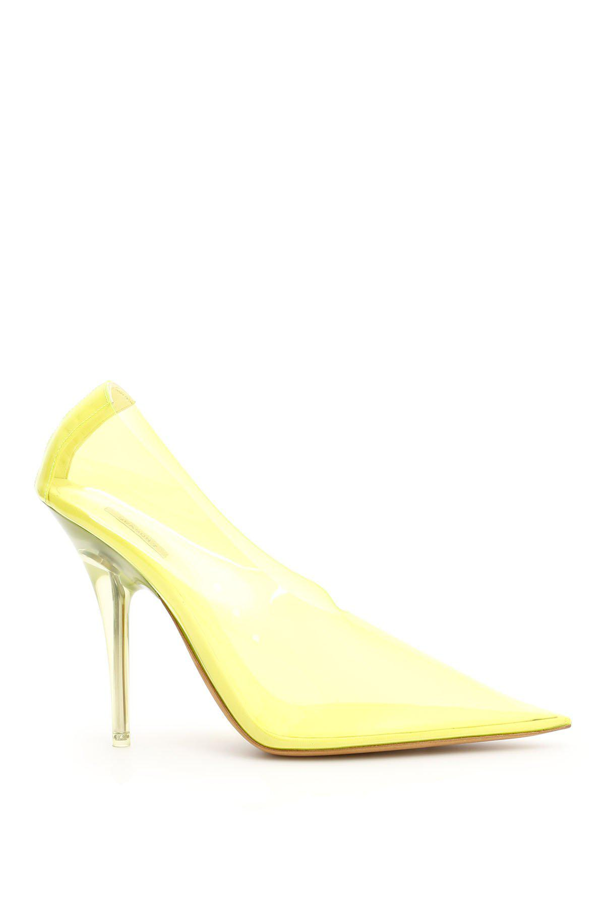 50103bccc5cf Lyst - Yeezy Translucent Pointy Pumps in Yellow - Save 51%