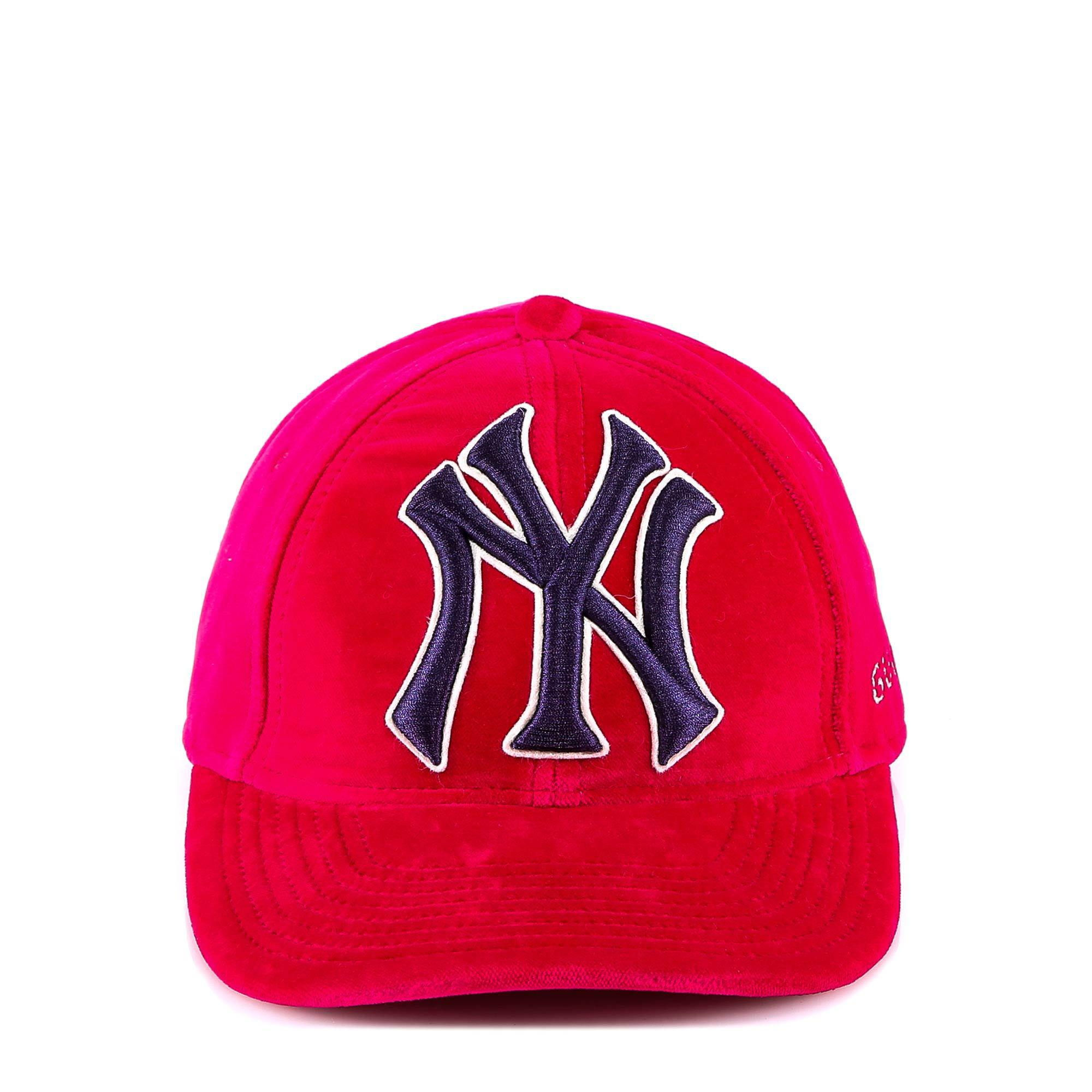 513386ead0a Lyst - Gucci New York Yankees Embroidered Cap in Pink for Men