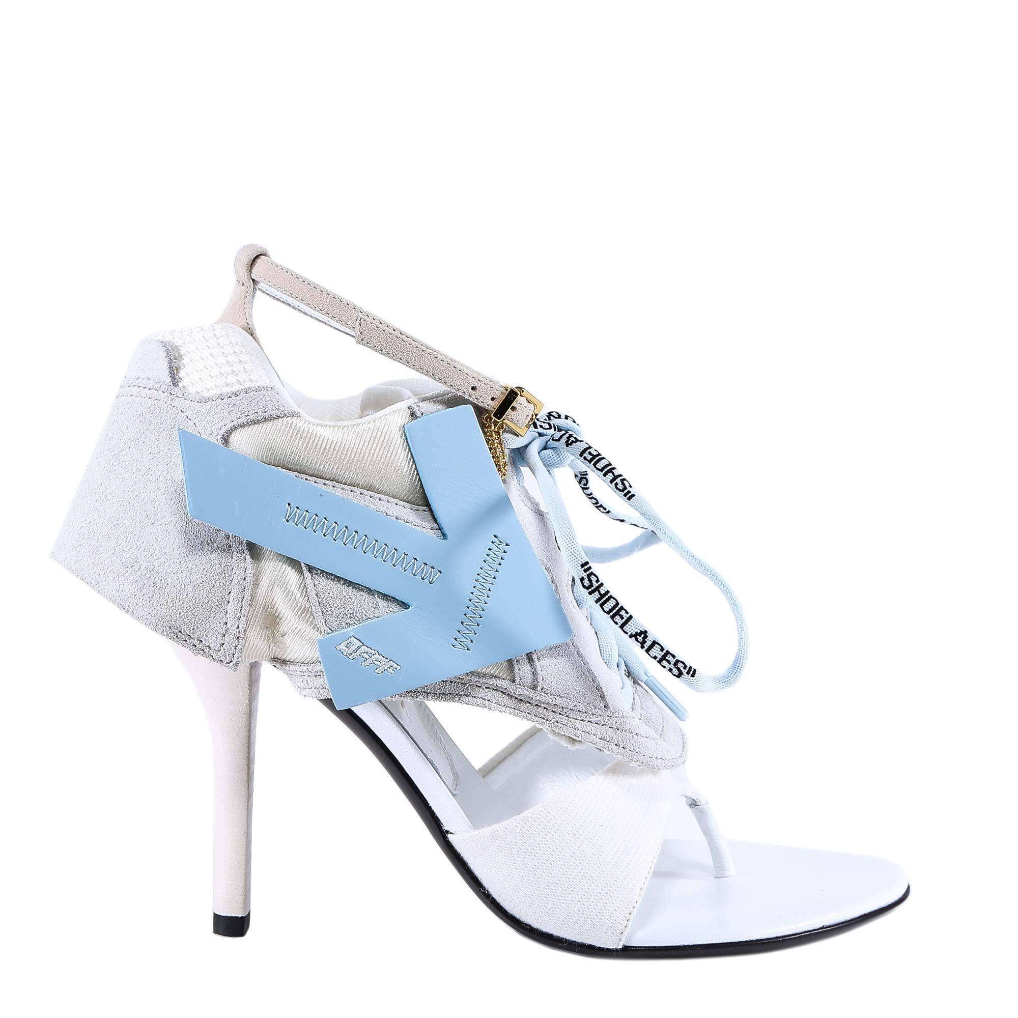 85767b0ac Off-White c/o Virgil Abloh Lace-up Runner Sandals in White - Lyst