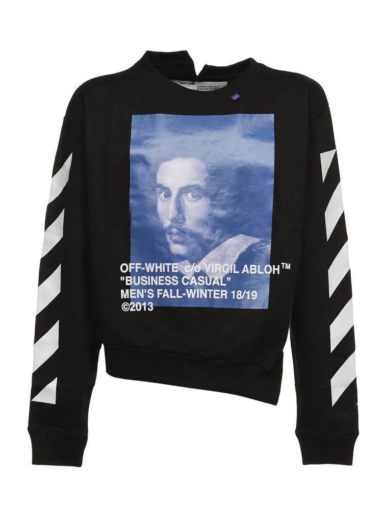 50b9e07c Off-White C/O Virgil Abloh Bernini Spliced Sweatshirt for Men - Lyst