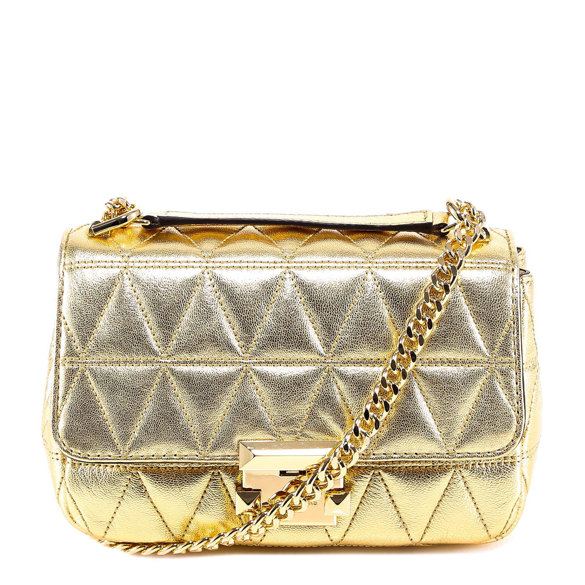 5ad075b94 Lyst - MICHAEL Michael Kors Sloan Quilted Chain Shoulder Bag in Metallic