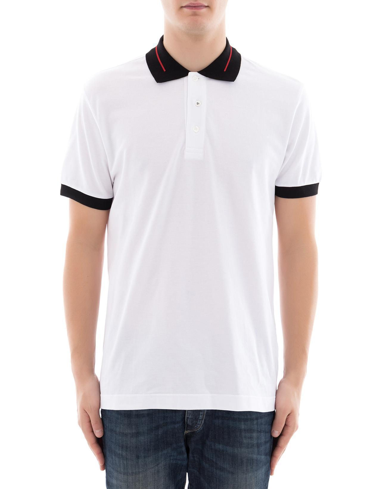 08b7f658 Lyst - Dior Homme Two-tone Polo Shirt in White for Men