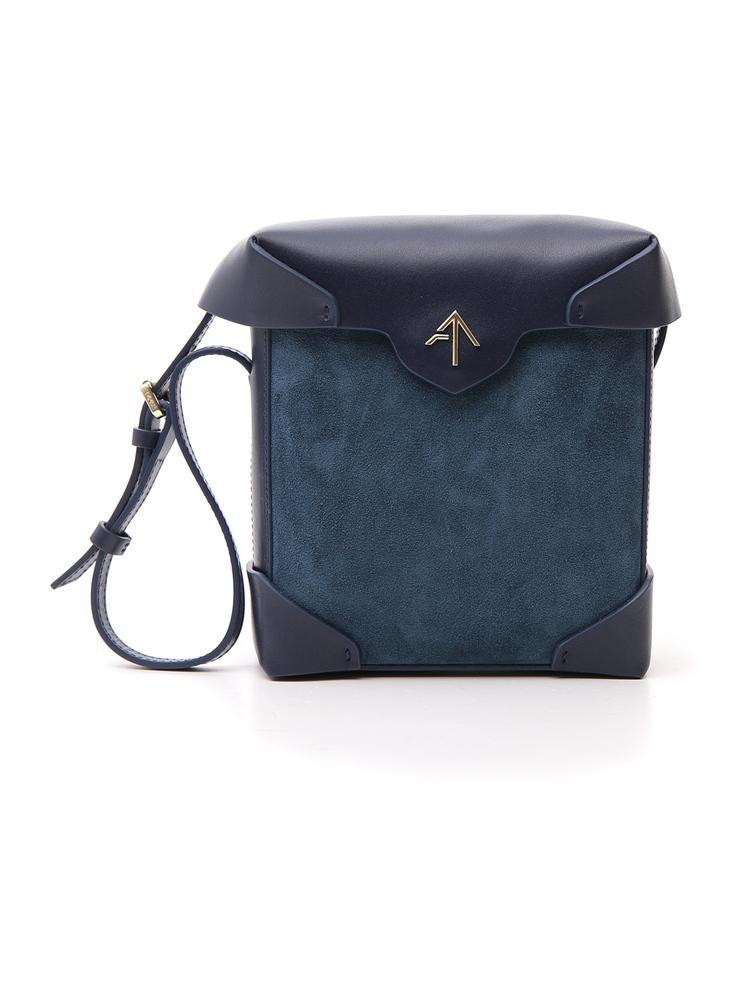 Manu Atelier Shoulder Box Bag in Blue - Lyst d8c81bf2873f7