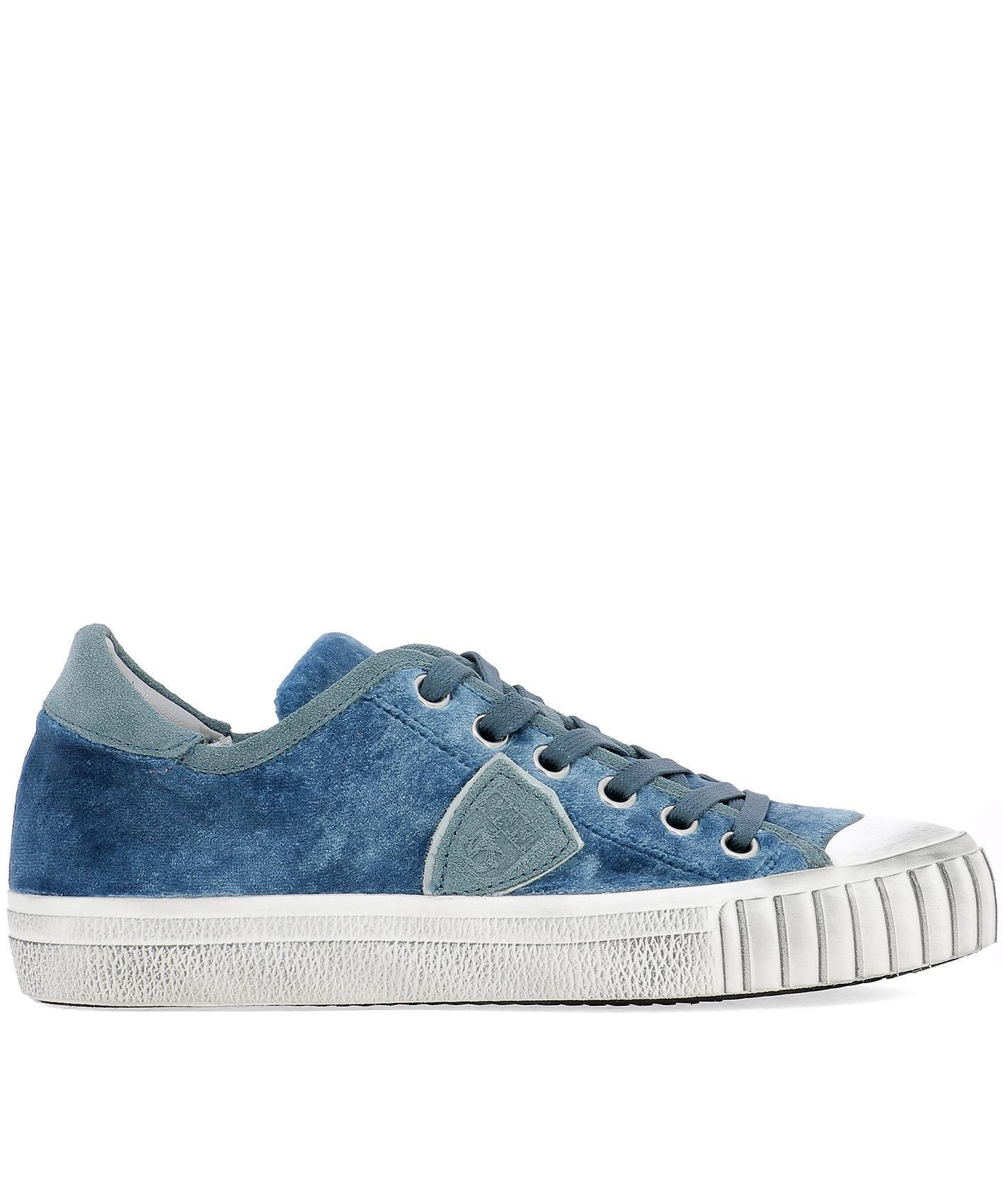low priced b6071 896e9 philippe-model-Blue-Paris-Lace-up-Sneakers.jpeg