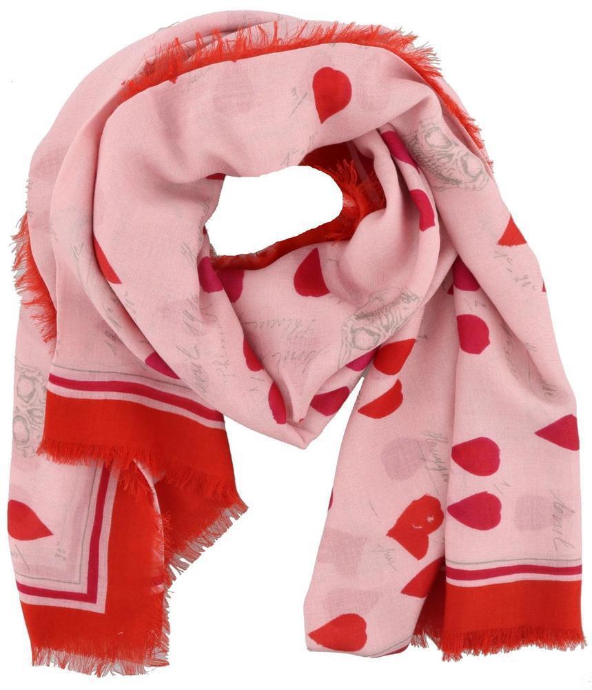 frayed skull scarf - Pink & Purple Alexander McQueen 4diav