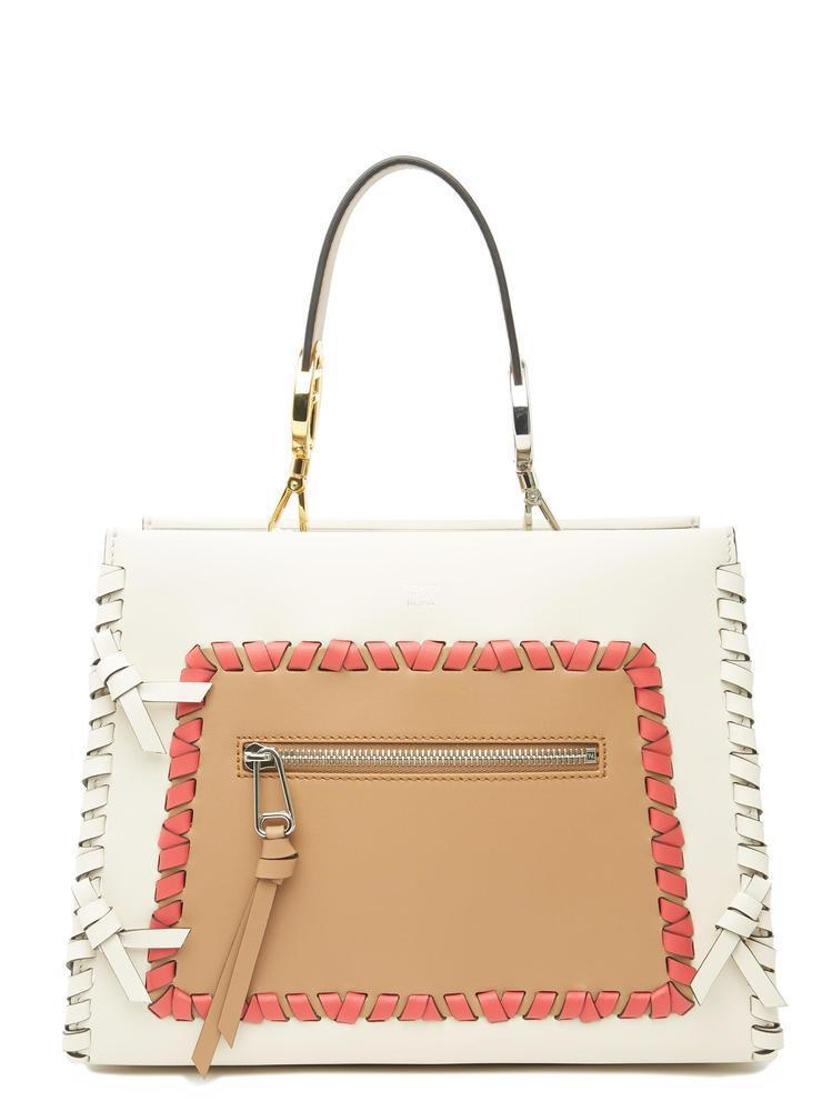 fe49bf9a0d80 Fendi Runaway Lace-up Tote in Natural - Lyst