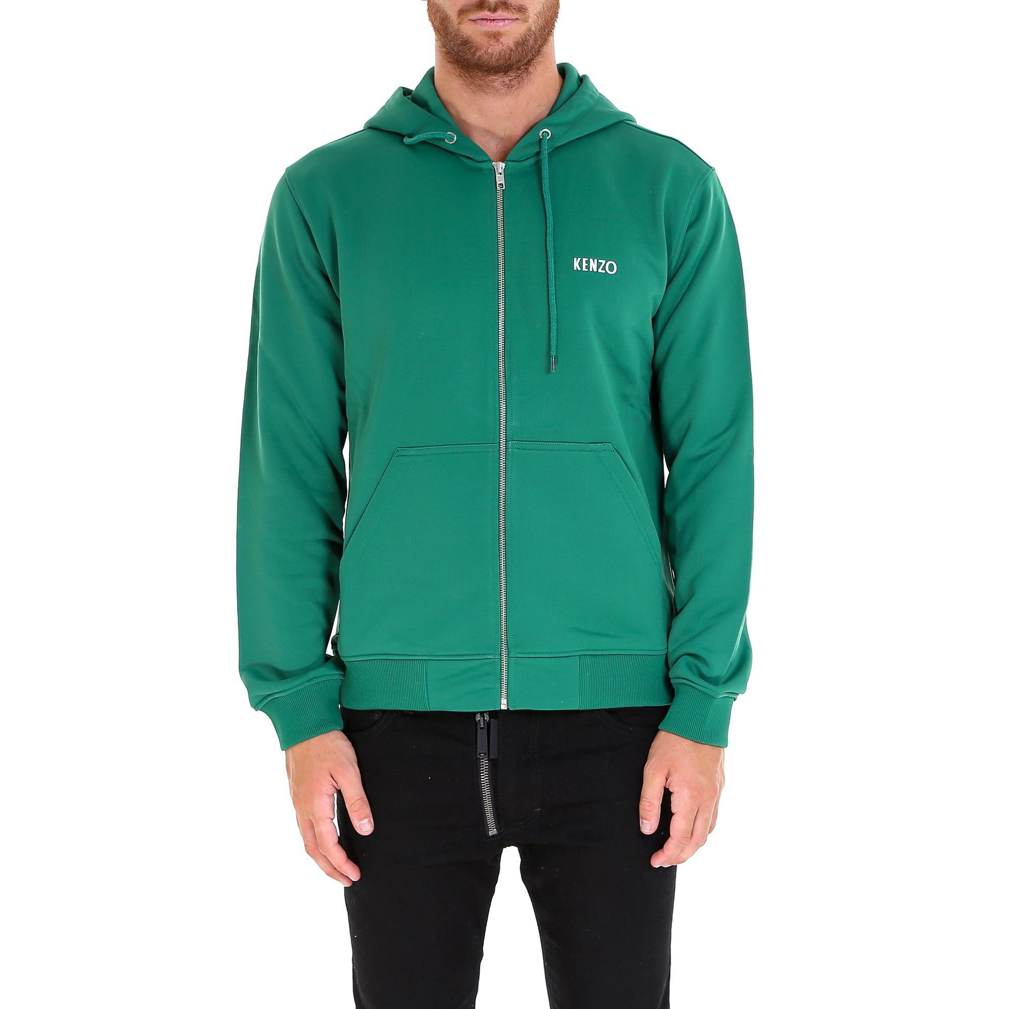 2b0f3d7fc Lyst - KENZO Embroidered Dragon Logo Design Hoodie in Green for Men