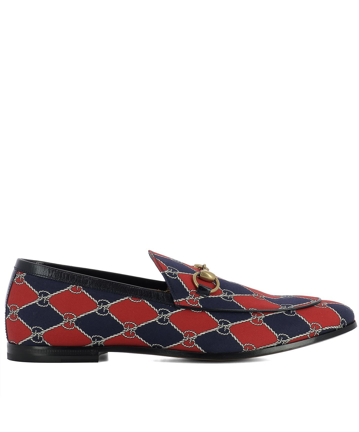 1531e2d19b9 Lyst - Gucci Rhombus Loafers in Blue for Men
