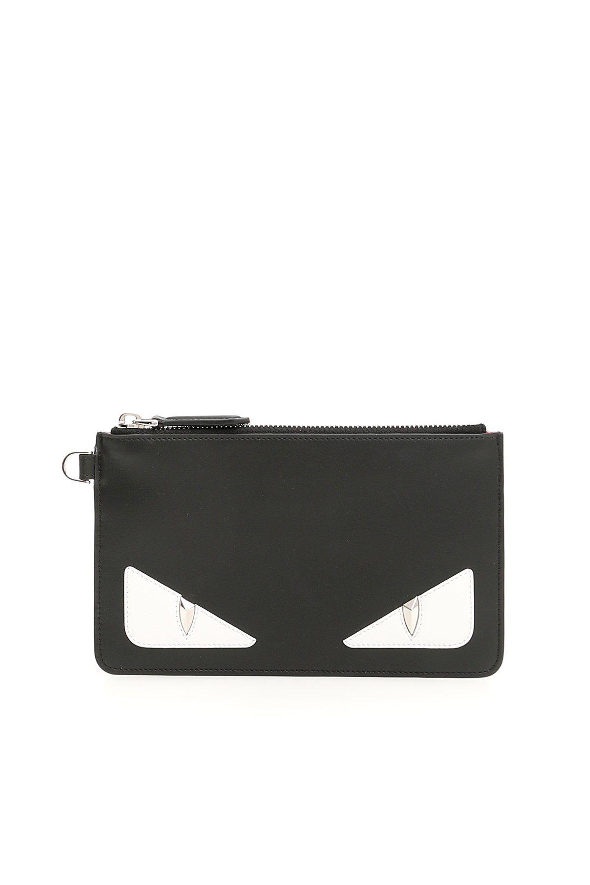Lyst - Fendi Bag Bugs Top Zip Pouch in Black 981e3b0e19792