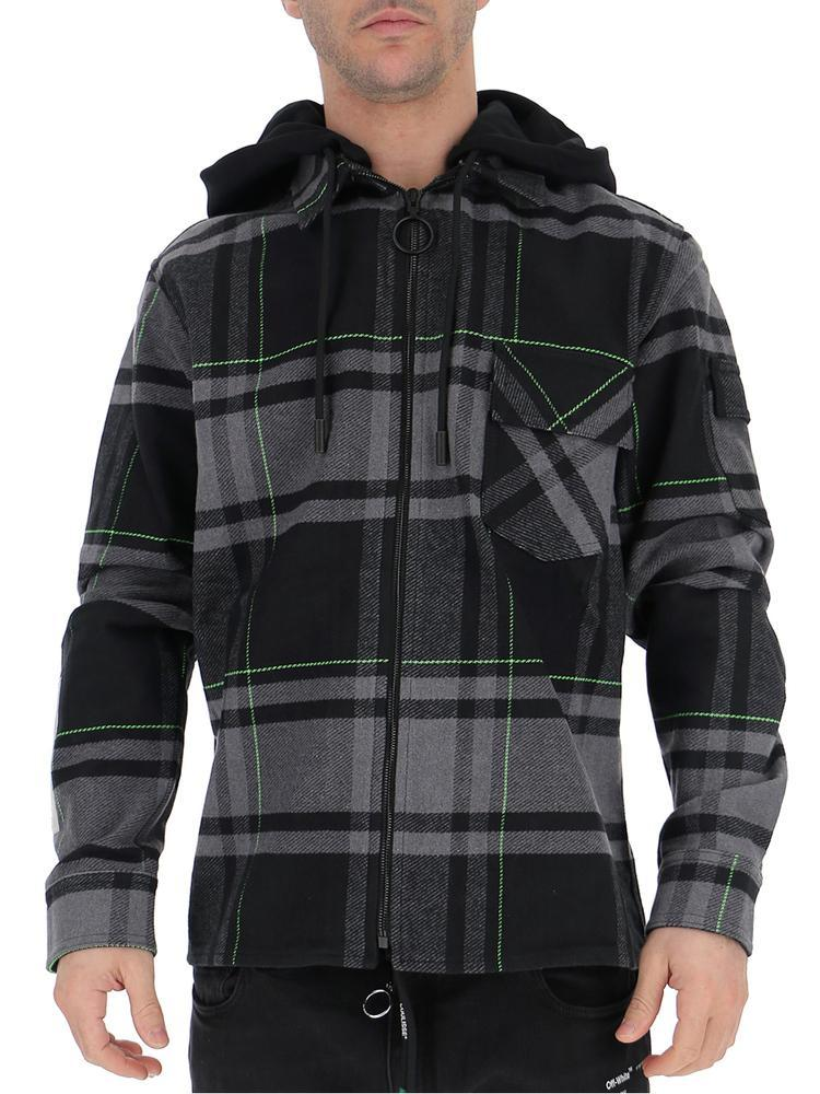 e8b5c0e918bdb Lyst - Off-White c/o Virgil Abloh Off- Checked Zipped Jacket in ...