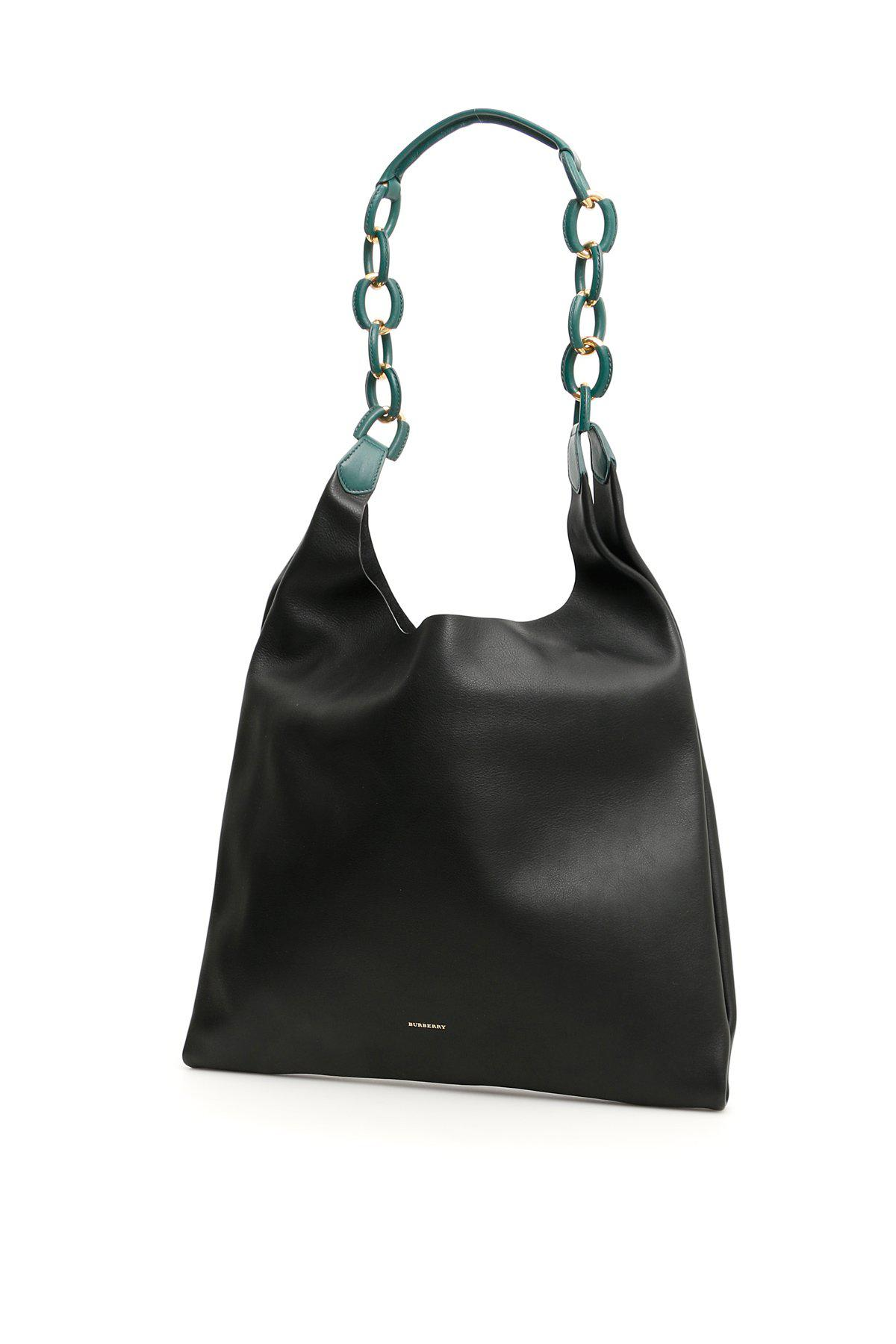 2521e06ccc62 Lyst - Burberry Medium Chain Strap Shopper in Black