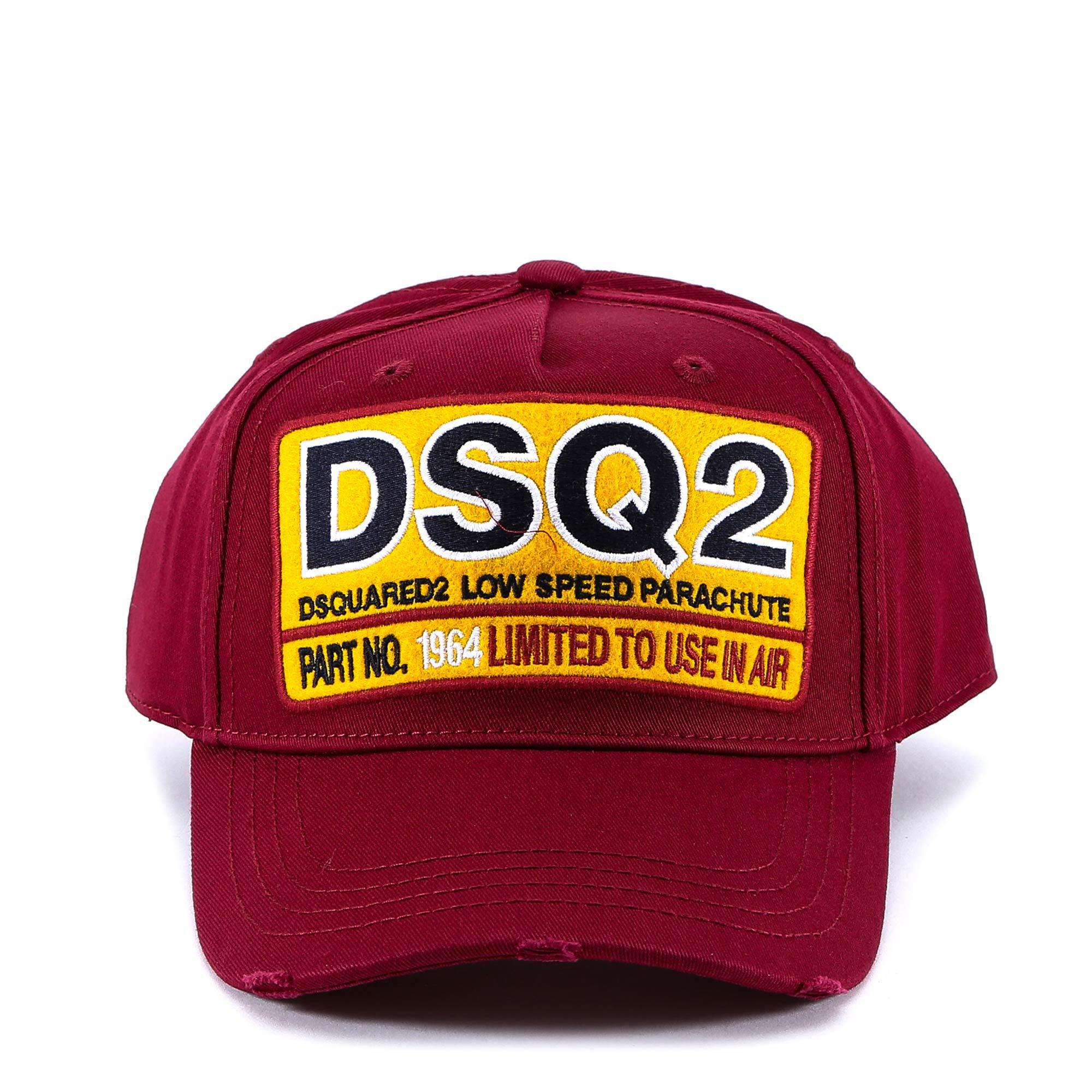 Lyst - Dsquared² Dsq2 Patch Baseball Cap in Red for Men a530edd21a23
