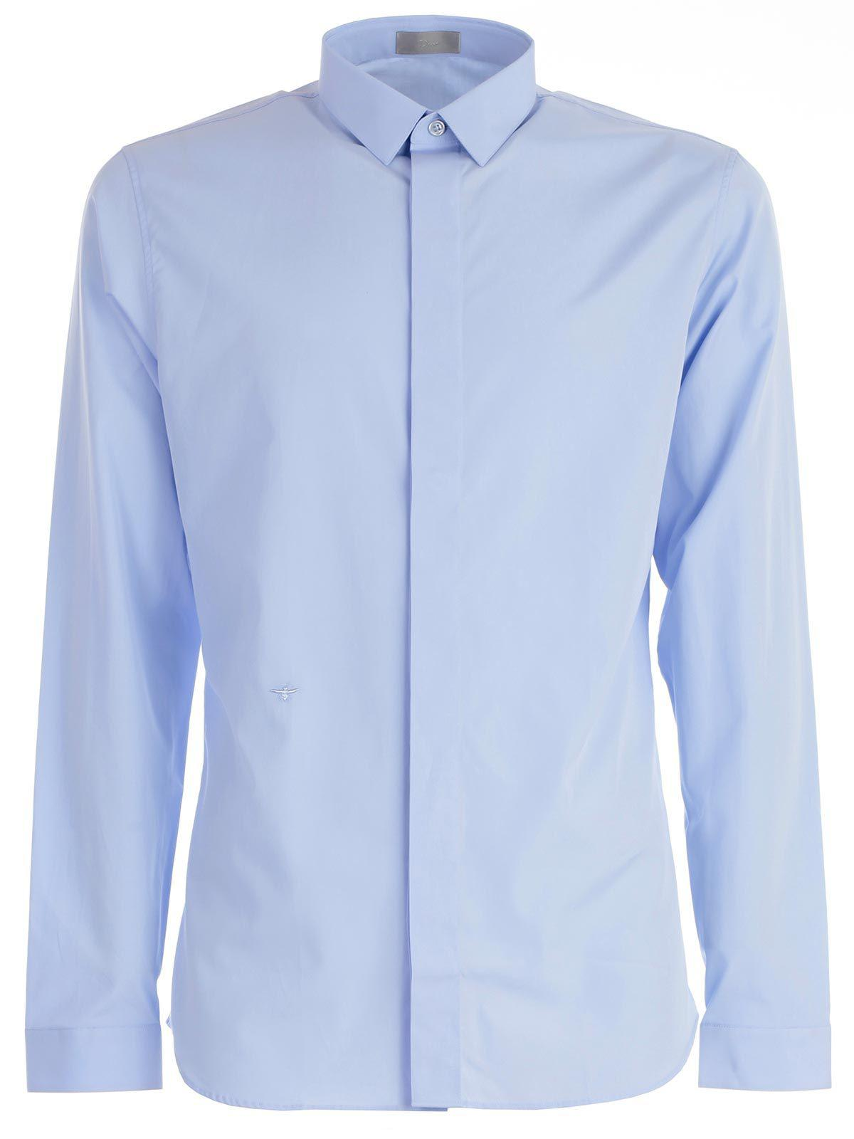 cec4142e Dior Homme Bee Embroidered Shirt in White for Men - Lyst