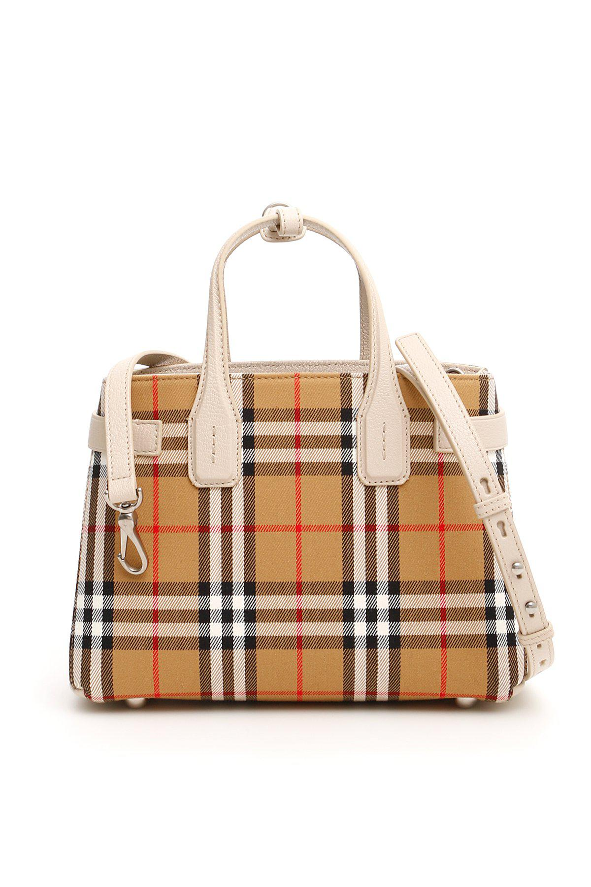 Burberry The Banner Vintage Check Bag in Brown - Lyst e0efbfca01c44