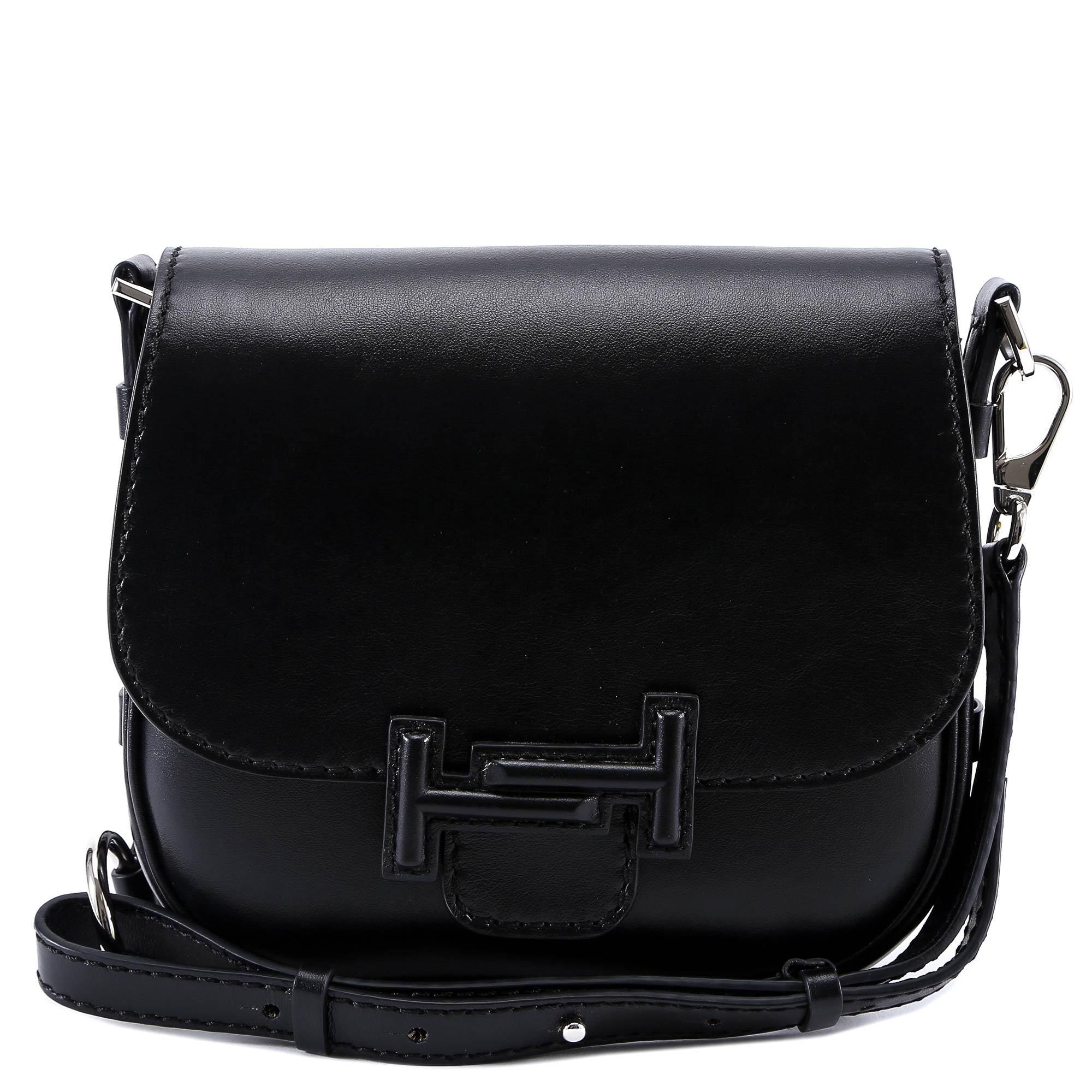 9a4593eb08 Lyst - Tod'S Double T Saddle Bag in Black
