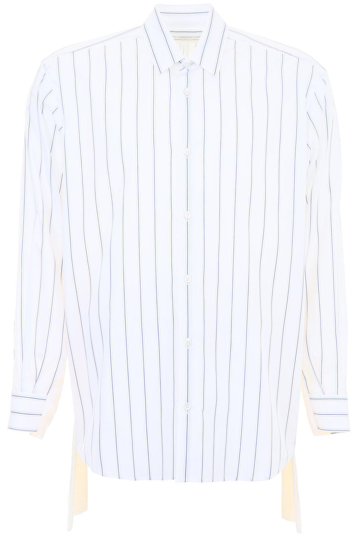 a0365e27 Stella Mccartney Striped Shirt in White for Men - Lyst