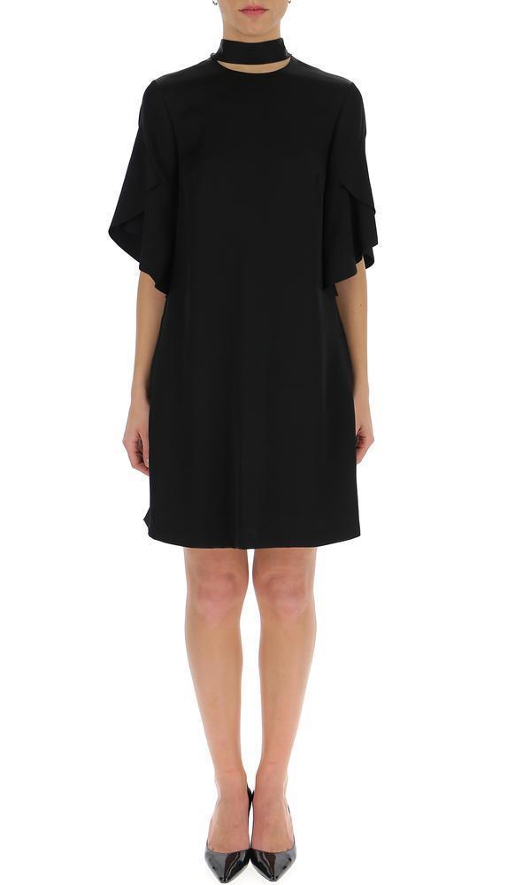 5413b35a6d3 Fendi Neck Tie Dress in Black - Lyst