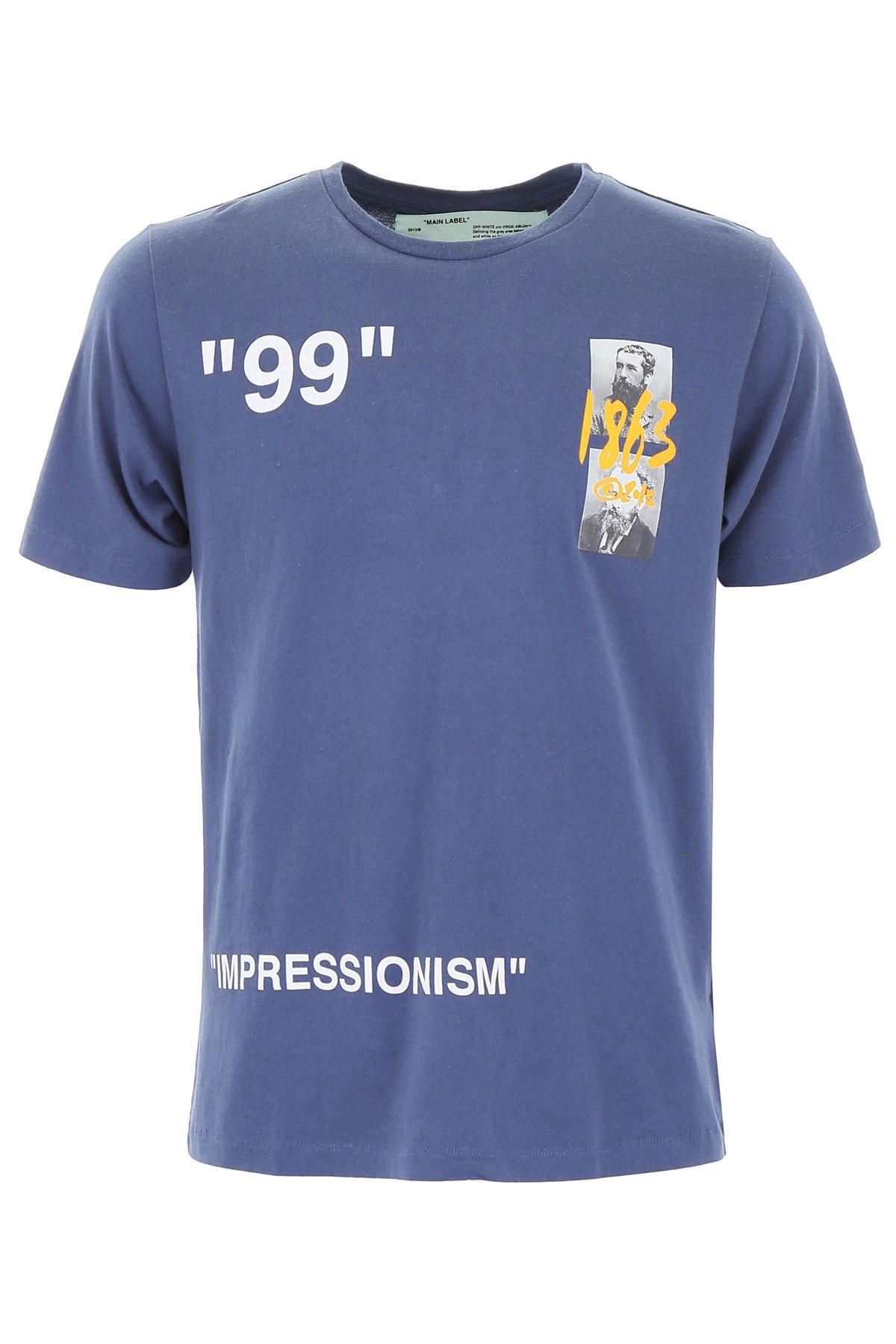 fa9ba5b3 Off-White c/o Virgil Abloh Summer 1863 T-shirt in Blue for Men - Lyst
