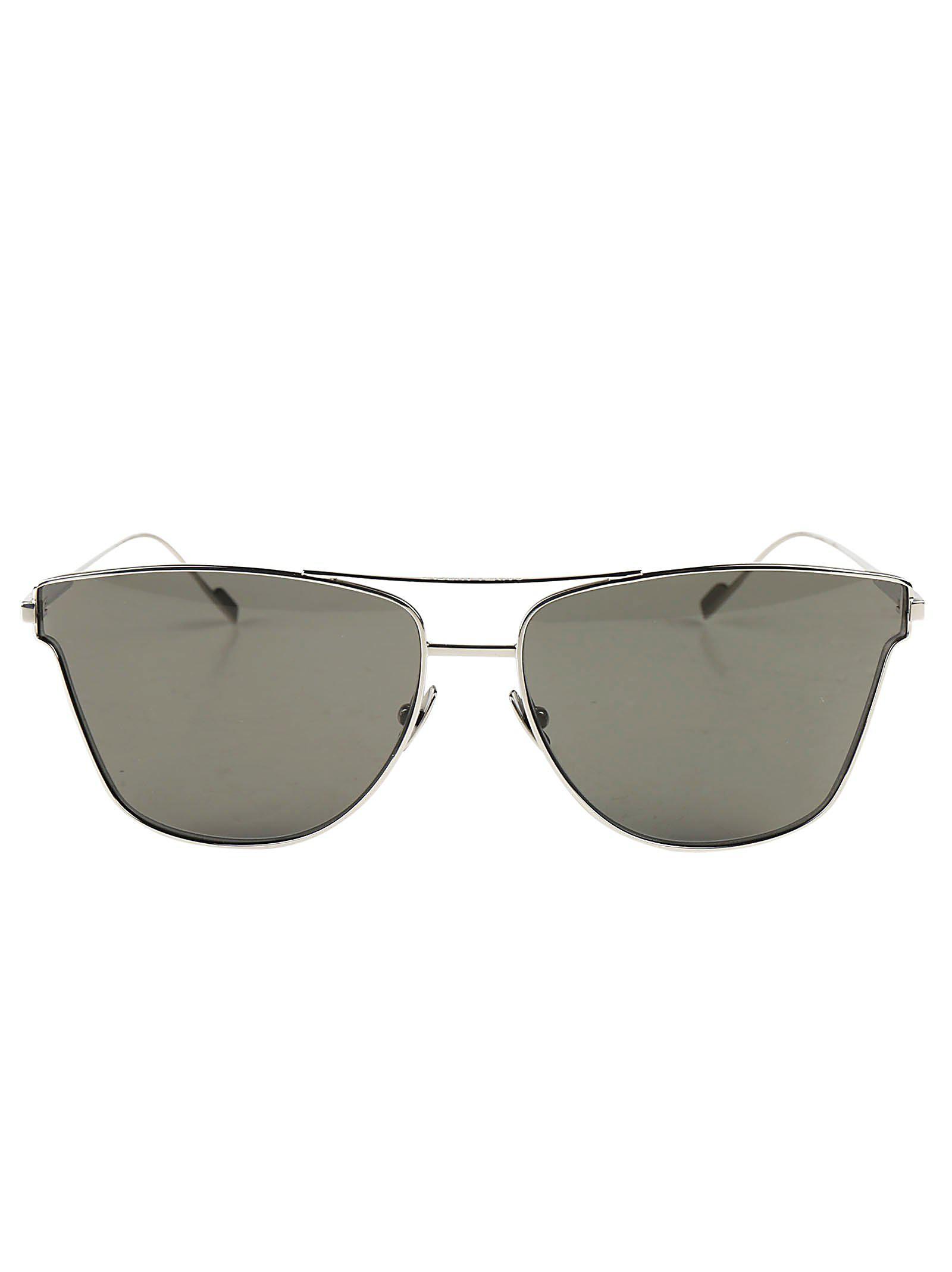 bc388076a8 Saint Laurent Cat Eye Sunglasses in Green for Men - Lyst