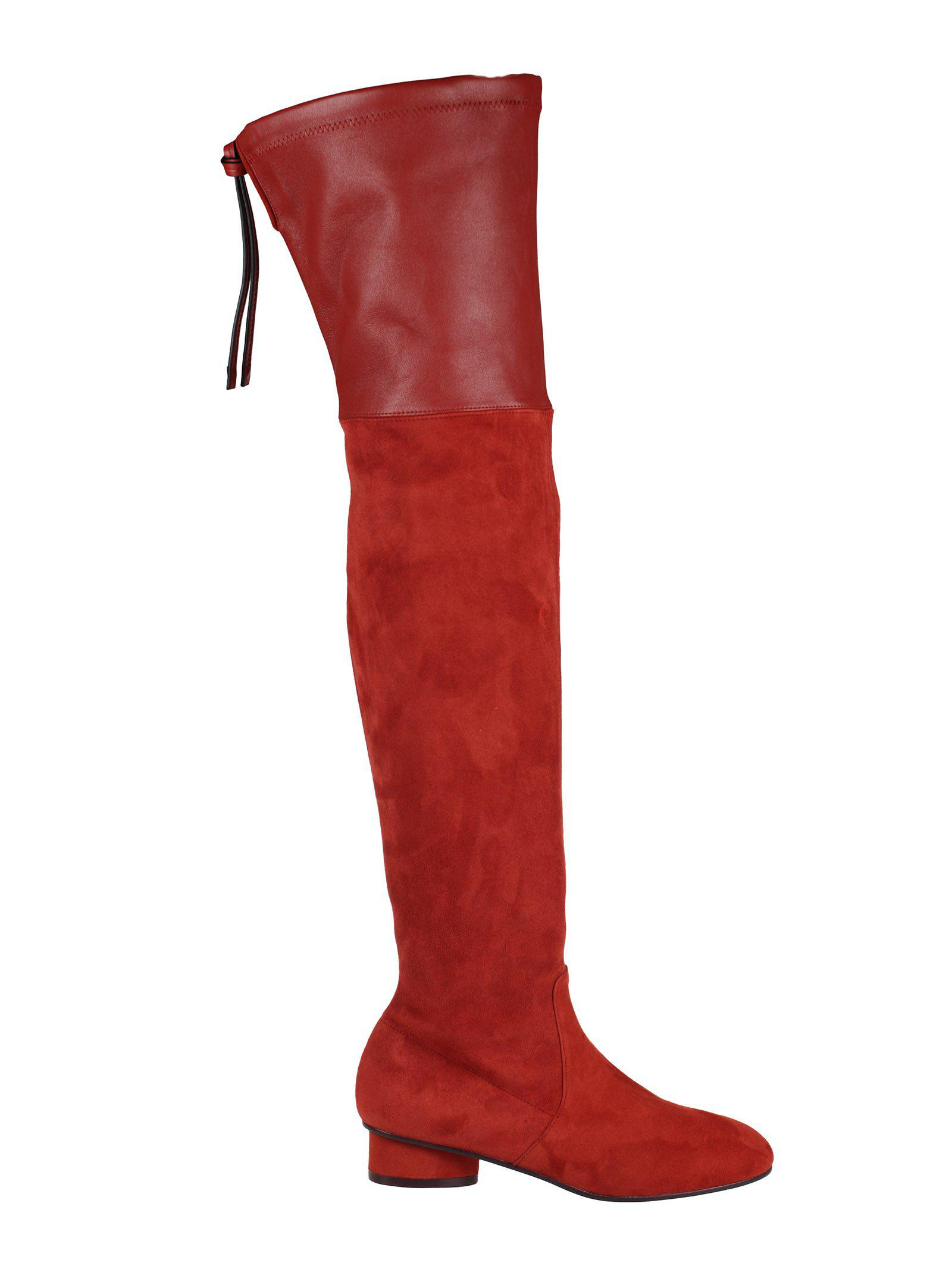 78d5771f0 Lyst - Stuart Weitzman Helena Thigh High Boots in Red