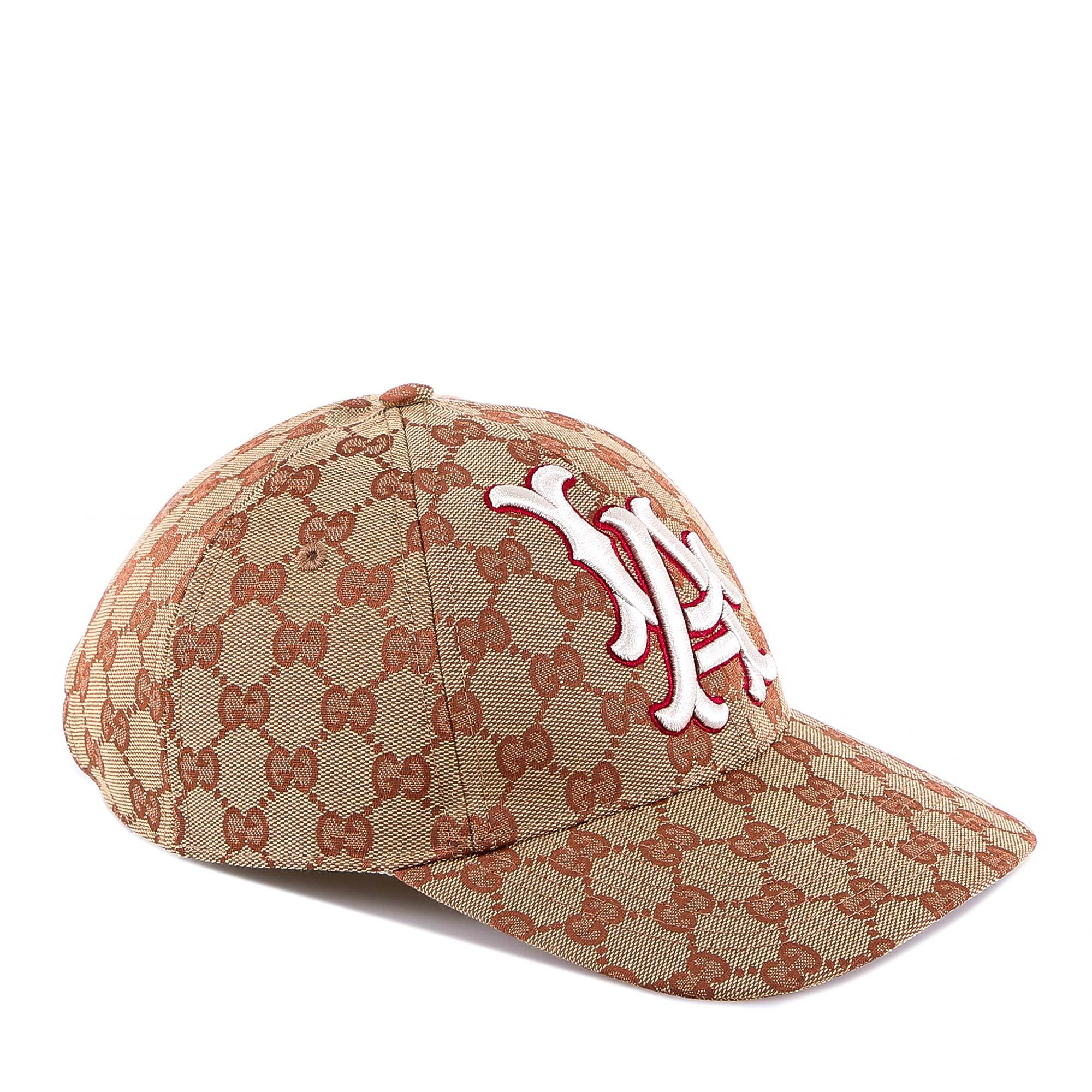 9d56e67ccd9 Gucci La Dodgers Embroidered Cap in Brown for Men - Lyst