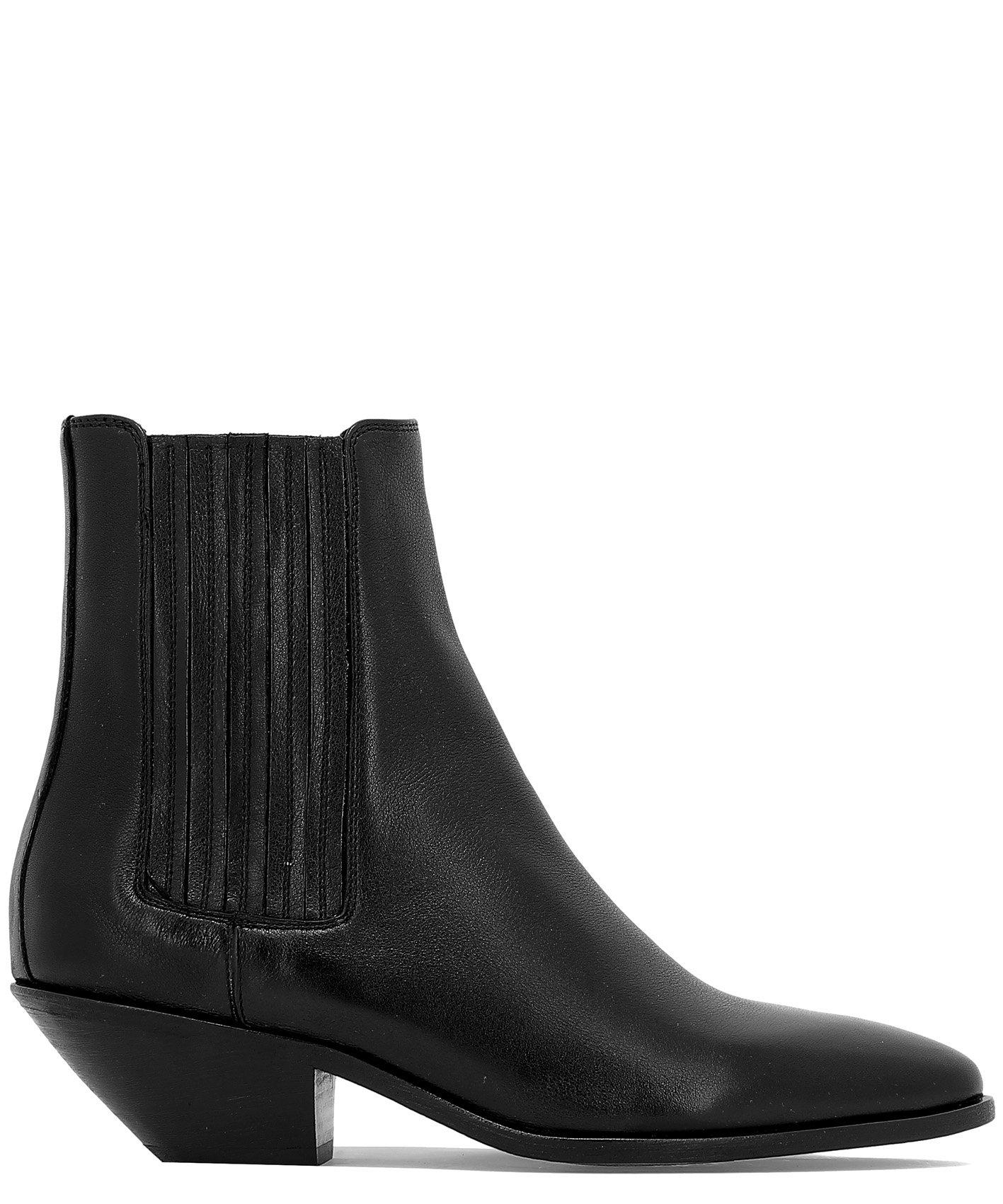 909973478b3 Lyst - Saint Laurent Heeled Chelsea Boots in Black - Save 23%
