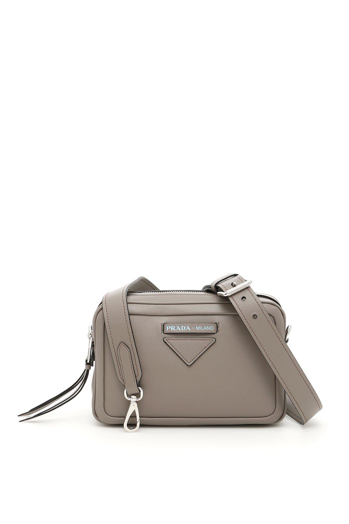 f455d43ac8870d Prada Zip Around Shoulder Bag in Metallic - Lyst