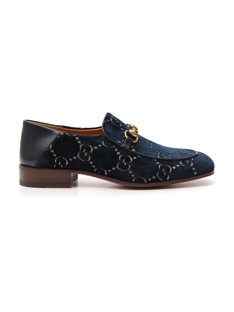 6efd819a527 Gucci GG Horsebit Loafer in Blue for Men - Save 35% - Lyst