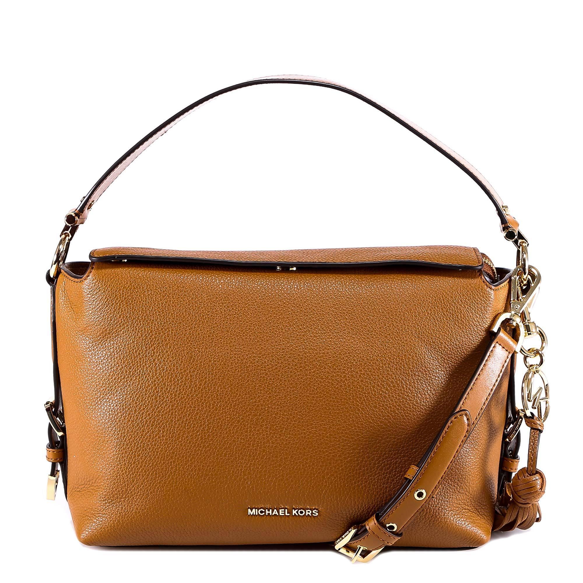 d7f587e75984f6 Lyst - MICHAEL Michael Kors Brooke Medium Shoulder Bag in Brown