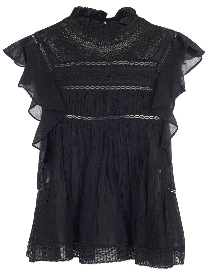 c45e6adbcb0 Étoile Isabel Marant Lace Detailed Layered Blouse in Black - Lyst