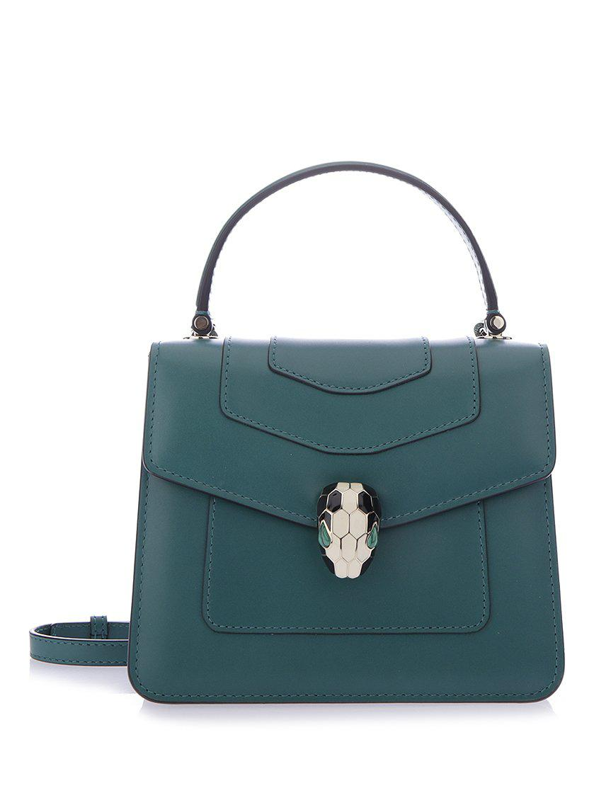f289463a844 Bvlgari Serpenti Forever Flap Cover Tote Bag in Green - Lyst