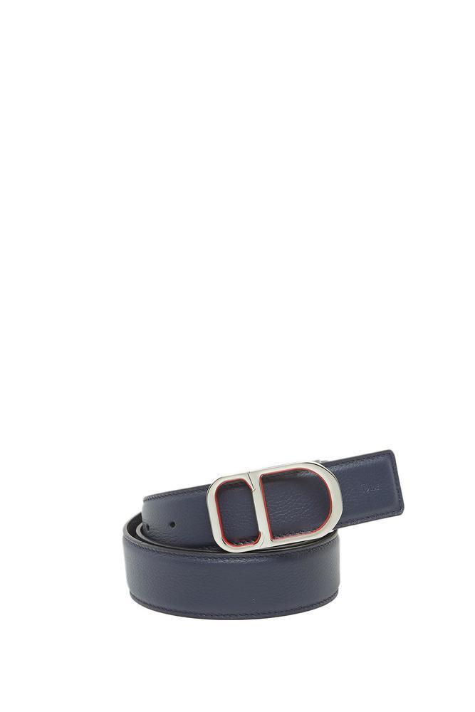 08649000e0aac Dior Homme Reversible Leather Belt in Blue for Men - Lyst