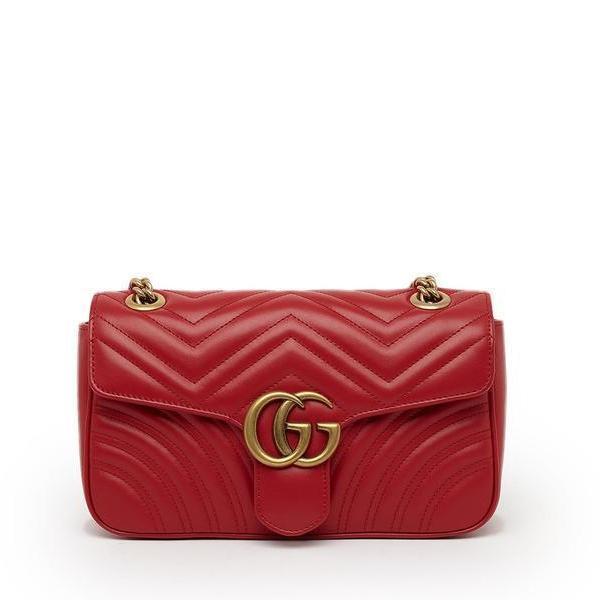 4e6397f0b4f9da Lyst - Gucci GG Marmont 2.0 Matelassé Shoulder Bag in Red