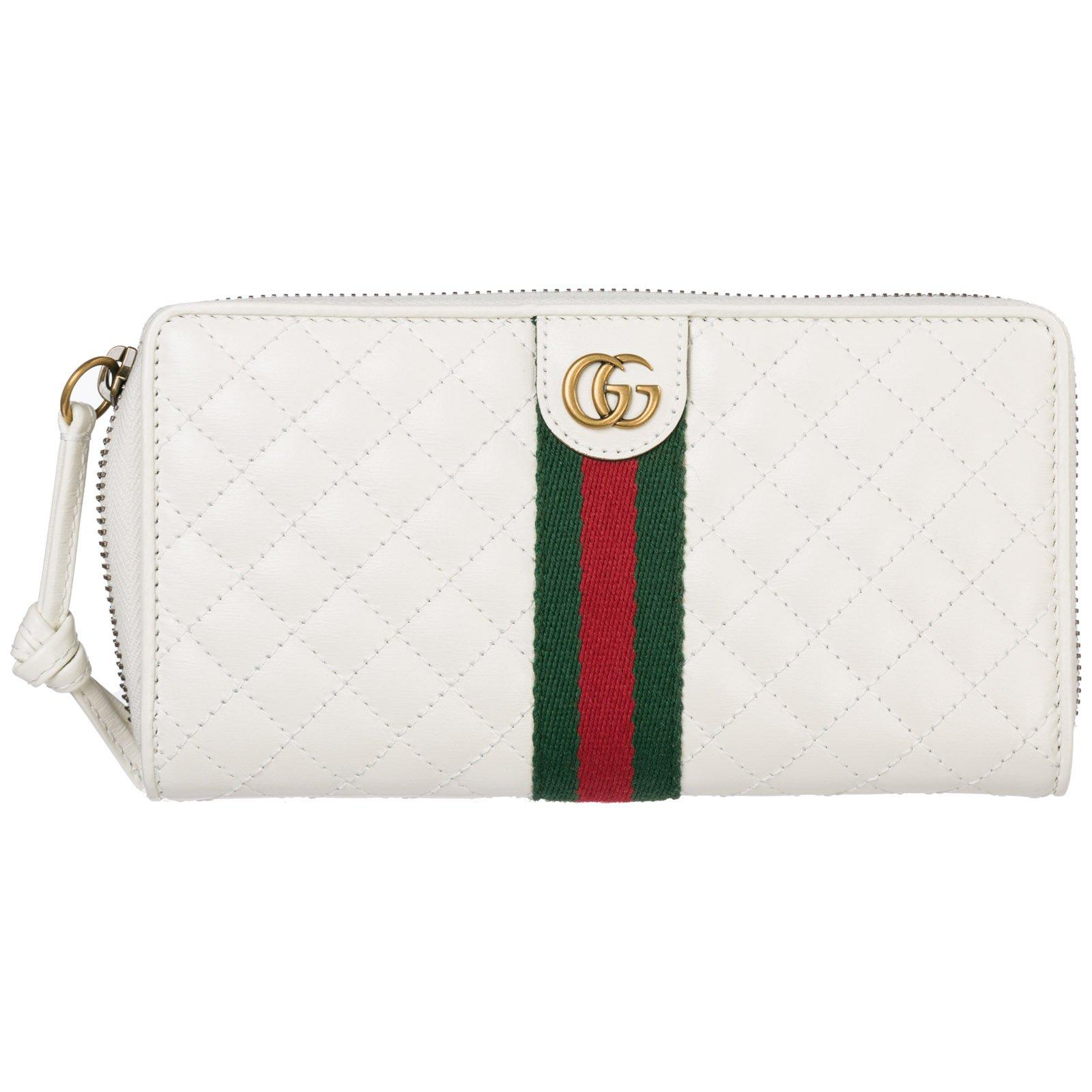 bd560e3674e340 Lyst - Gucci Double G Zip-around Wallet in White