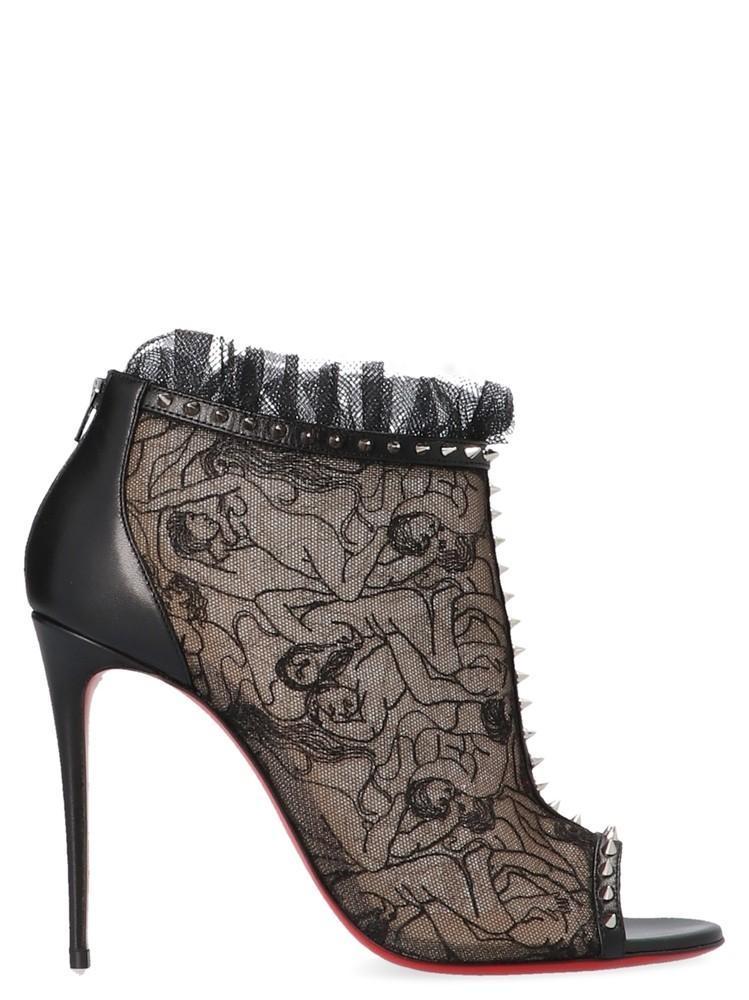 baf0476752e Christian Louboutin Juliettra Lace Boots in Black - Lyst