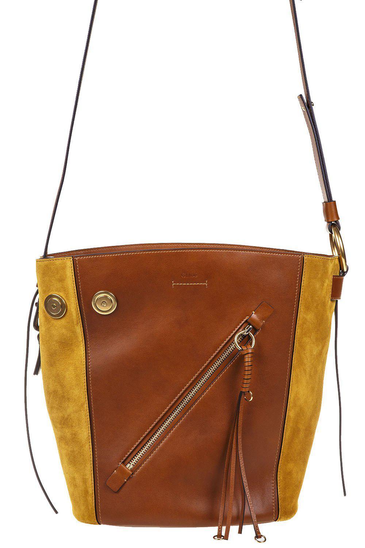 Chloé Women S Brown Myer Small Shoulder Bag