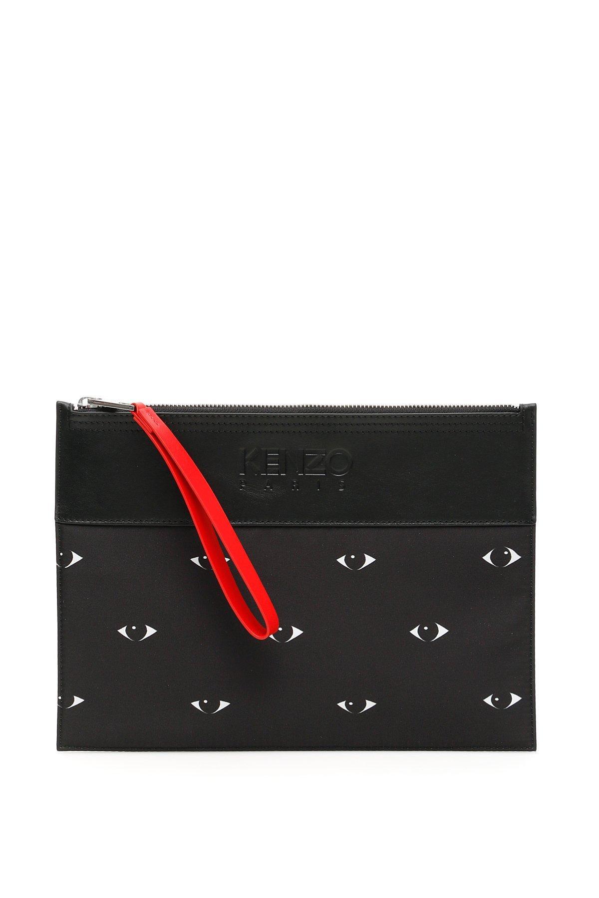 8d0f1128c8c KENZO A4 Eye Clutch Bag in Black for Men - Lyst