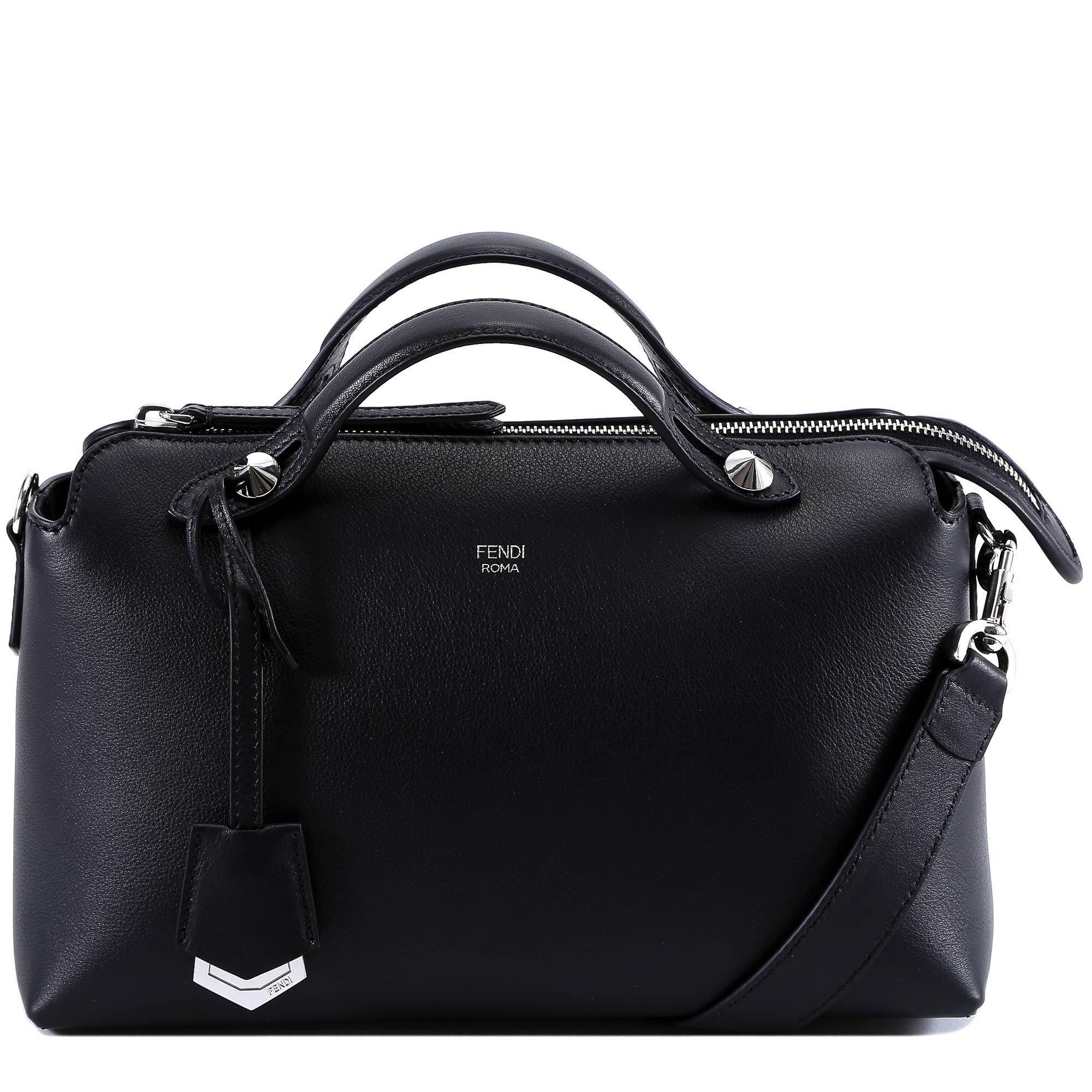 Fendi By The Way Boston Bag in Black - Lyst f0fe3a2467a86